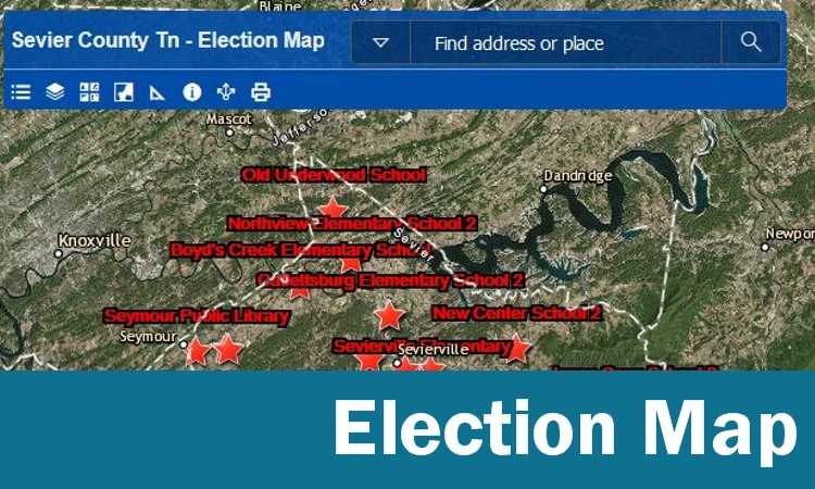 Sevier County Election Map